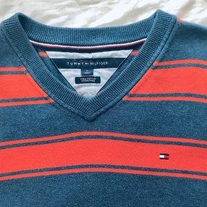 Light Tommy Hilfiger Sweater w. 🍊+💙 Stripes 😎👍